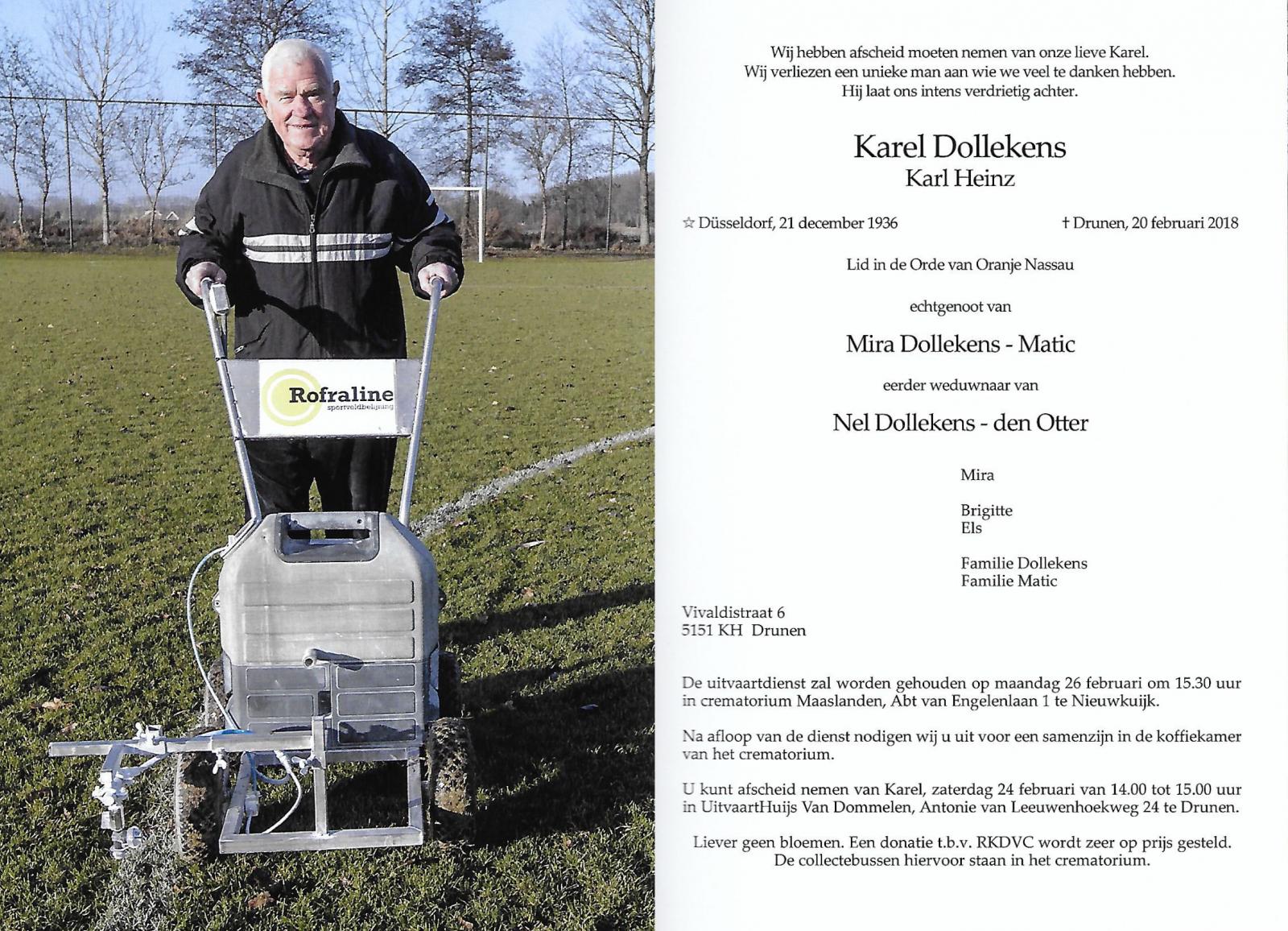 Uitvaart Karel Dollekens Nieuwsarchief Rkdvc